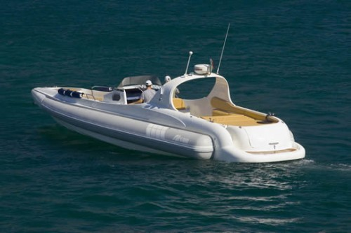 TT 45 Top System, application Surface Drives on boat Alson Charme 43