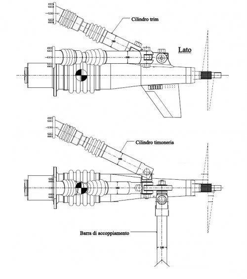 Surface Drive Top System TS 120, propulsion with surface propeller